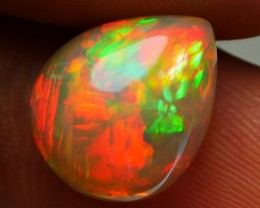 4.35 CRT AMAZING PERFECT NEON BAMBOO LEAF FIRE PATTERN WELO OPAL