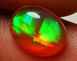 1.00 CRT CRYSTAL BROWN PATCHWORK MULTICOLOR WELO OPAL