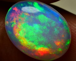4.00 CRT MILKY WHITE BEAUTY RAINBOW PLAY COLOR WELO OPAL