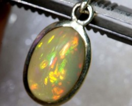 7 CTS ETHIOPIAN OPAL SILVER PENDANT FOB-1227
