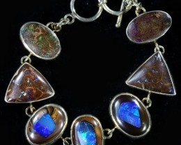 230.00 CTS BOULDER INLAY OPAL BRACELET   -ADJUSTABLE SOJ6083