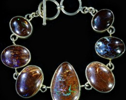 200.35 CTSBOULDER  OPAL BRACELET   -ADJUSTABLE SOJ6084