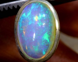 9 CTS ETHIOPIAN OPAL SILVER PENDANT FOB-1229