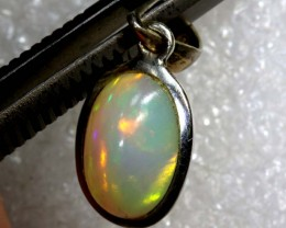 8.4 CTS ETHIOPIAN OPAL SILVER PENDANT FOB-1230