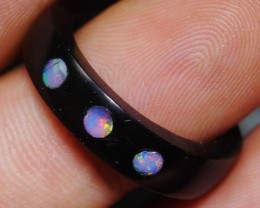 5.70 Ct Indonesian Opal With Traditional Ring Hand Made