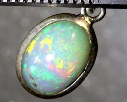 6 CTS ETHIOPIAN OPAL SILVER PENDANT FOB-1236
