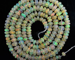 39.03 Cts Natural Multi Color Play Ethiopian Opal Beads NR