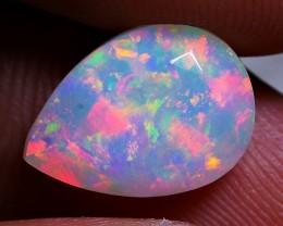 2.50 CRT LOVELY FACETED MILKY 3D PATCHWORK FIRE WELO OPAL