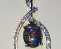 Opal Pendant Natural AUSTRALIAN OPAL 18K Gold