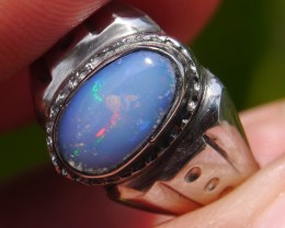 24.10 Ct Indonesian Crystal Opal With Unique Ring