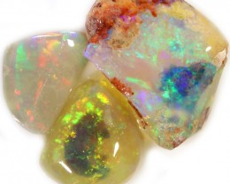 10.30 CRYSTAL  OPAL ROUGH PARCEL  -RUBBED/FACED [BR5810]SAFE