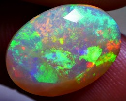 5.00 CRT WONDERFUL FACETED 3D RAINBOW 5/5 FULL BEAUTY COLOR WELO OPAL