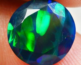 2.20 CRT BRILLIANT SMOKED ROUND FACETED 3D TREES PATTERN BEAUTY PLAY COLOR
