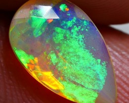 1.00 CRT BRILLIANT FACETED PIN FIRE GREENISH CRYSTAL CLEAR WELO OPAL