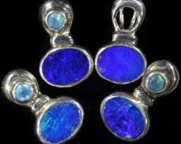 25.25 CTS DOUBLET OPAL WITH PARABIA SILVER  PENDANT PARCEL [SOJ6095]14