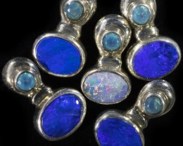 31.95 CTS DOUBLET OPAL WITH PARABIA SILVER  PENDANT PARCEL [SOJ6096]