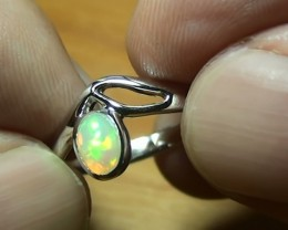 14.95 ct Stunning 925 Silver Bright Multi Color Welo Ring