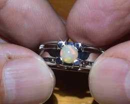 27 ct Stunning 925 Silver Bright Multi Color Welo Ring