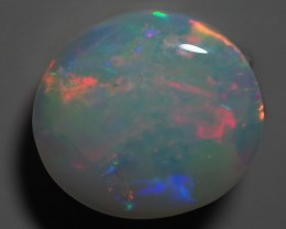 2.65 CT SOLID SEMI BLACK LIGHTING RIDGE OPAL TO256