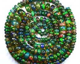 46.72 Cts Smoked Ethiopian Multi Color Play Opla Beads NR