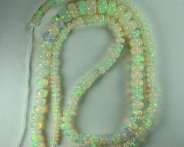 33.72 Cts Natural Multi Color Play Opal Beads NR