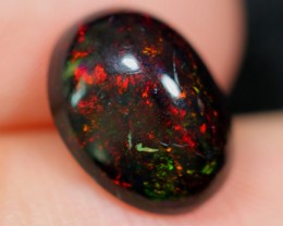 NR~  1.82Ct Red Color Play Ethiopian Welo Smoked Polished Opal