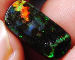 5.00 Ct RARE NATURAL Broad Flash Indonesian Wood Fossil Opal