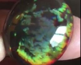 Rare 48ct Brilliant 5/5 Rainbow Prism MicroHoneyComb Welo Opal