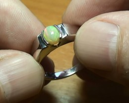 22.55 ct Stunning 925 Silver Bright Multi Color Welo Ring