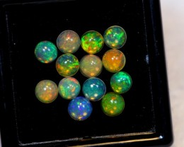 NR Auction ~ 2.33ct Round 4mm Welo Opal Parcel Lot