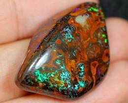 NR Auction ~ 44.77cts Matrix Colourful Boulder Opal Polished