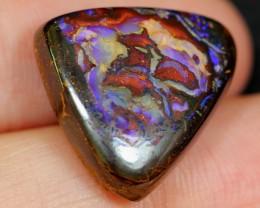 NR Auction ~ 19.18cts Matrix Colourful Boulder Opal Polished