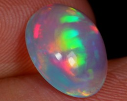 No Reserve~  1.29carats Rainbow Color Ethiopian Welo Polished Opal