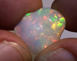 8.40 ct Ethiopian Gem Color Carved Freeform Welo Opal