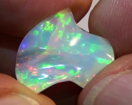 5.45 ct Ethiopian Gem Color Carved Freeform Welo Opal