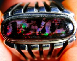 52.45 Ct FULL OF COLOR RARE Indonesian Wood Fossil Opal With Unique Ring