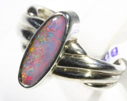 Nice  Natural Boulder Opal set in silver CF 1665