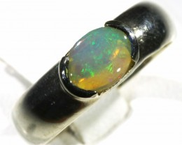 Solid Crystal Opal set in silver CF 1667