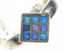 Inlay Opal set in silver CF 1673