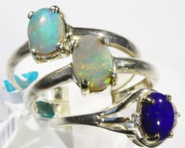Three Amazing solid fire  Opal Rings CF1674