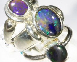 Three Cute Solid Opal Rings CF1675