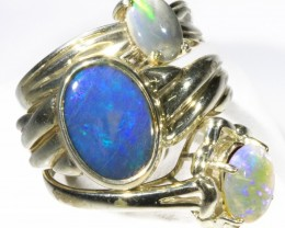 Three Cute Solid Opal Rings CF1676