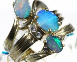 Three Cute Doublet Opal Rings CF1683