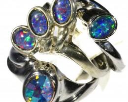 Three Cute Triplet Opal Rings CF1690