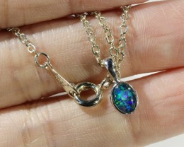 Three Cute Opal   Triplet set in Silver Pendant CF1694