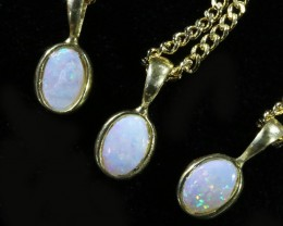 Xmas Gifts Three Cute Opal Solid  Crystal set in G/P Pendant CF1697