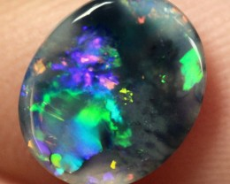 Lightning Ridge Solid Black Crystal Opal Stone 0.98ct