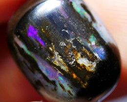 5.40 CRT RAINBOW PURPLE NICE COLOR POLISHED WOOD FOSSIL INDONESIAN OPAL