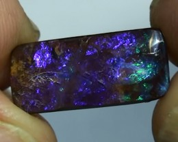 7.05 ct Boulder Opal Natural Blue Green Color