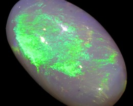NEON GREEN FIRE LARGE OPAL STONE BB142